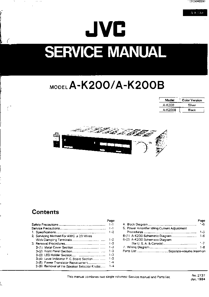 JVC R-X40 R-X40L Service Manual download, schematics