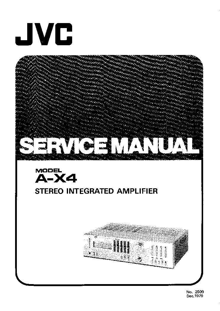 JVC A-X4 SM 2 Service Manual free download, schematics
