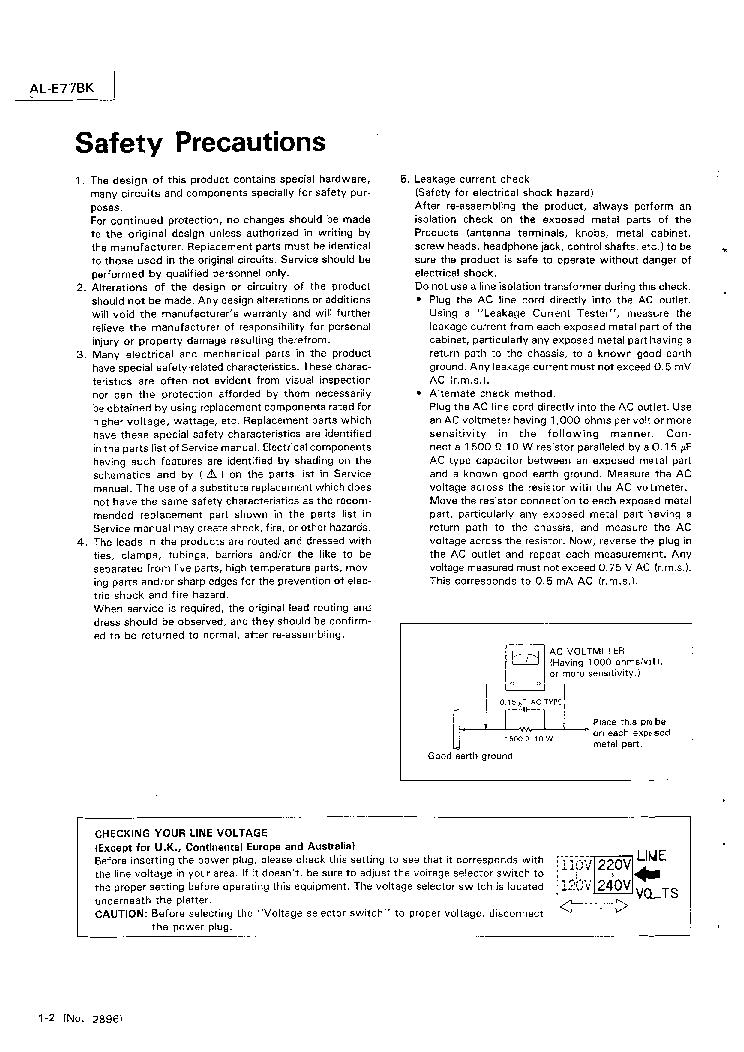 JVC AL-E77BK Service Manual download, schematics, eeprom