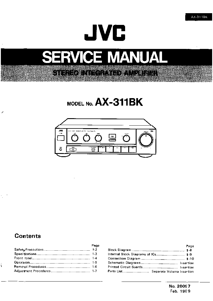 JVC CA-EX70 CA-EX70R Service Manual free download