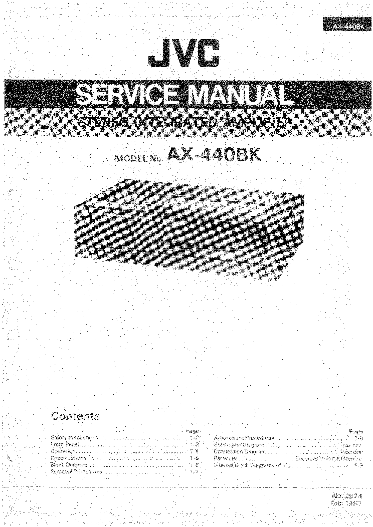 JVC AX-440BK SM Service Manual download, schematics