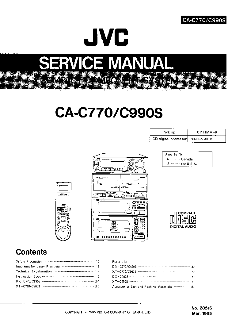 JVC UX-V30 Service Manual free download, schematics