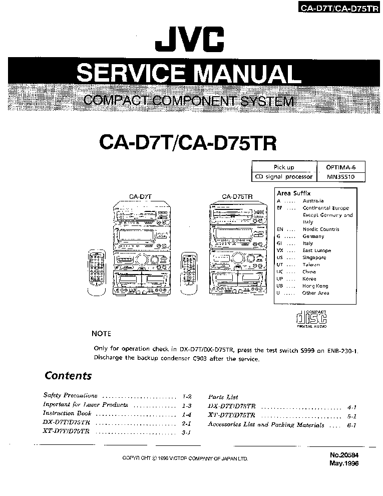 JVC AX-Z1010TN SM Service Manual free download, schematics