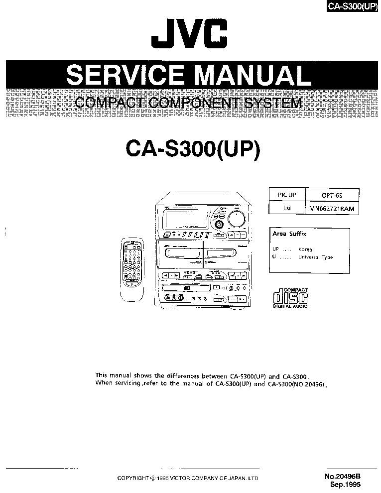 JVC PC-W222 Service Manual download, schematics, eeprom