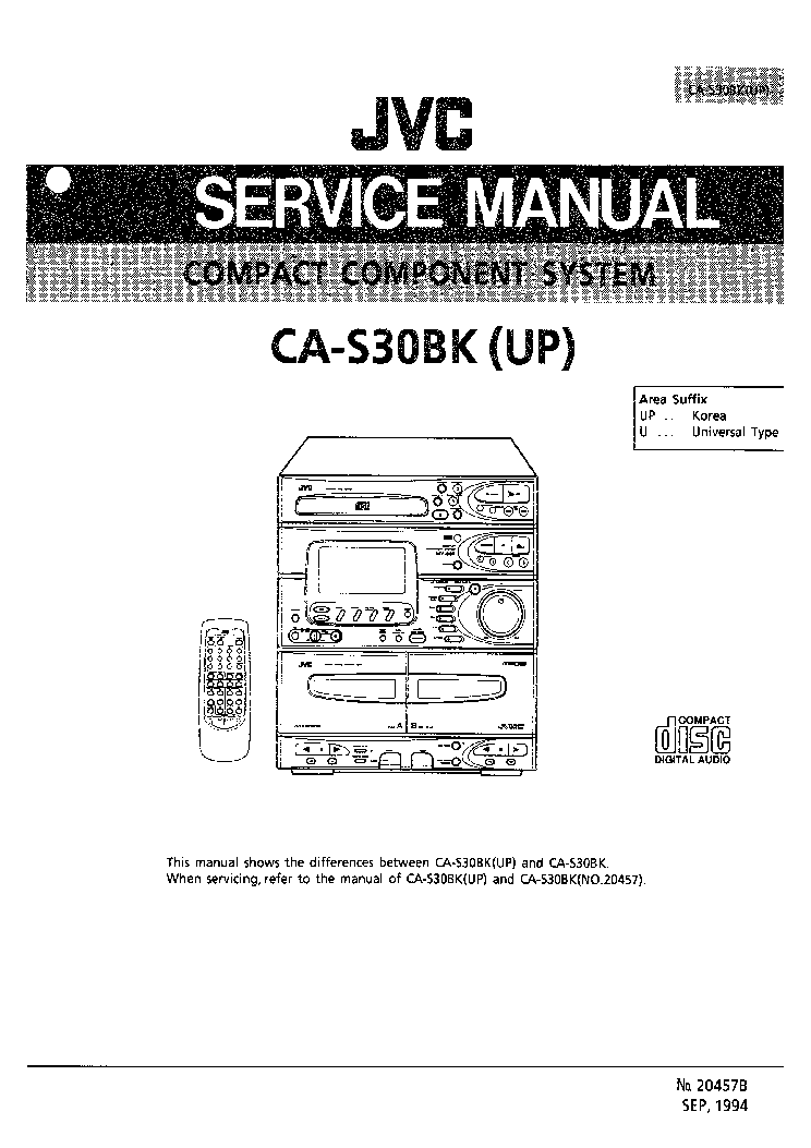 JVC CA-S30BK PARTS Service Manual download, schematics