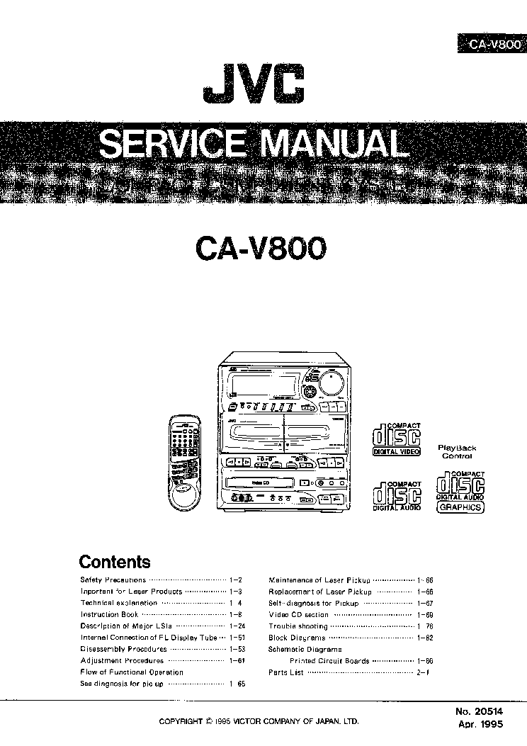 JVC MX-J950RMINICOMBO Service Manual download, schematics