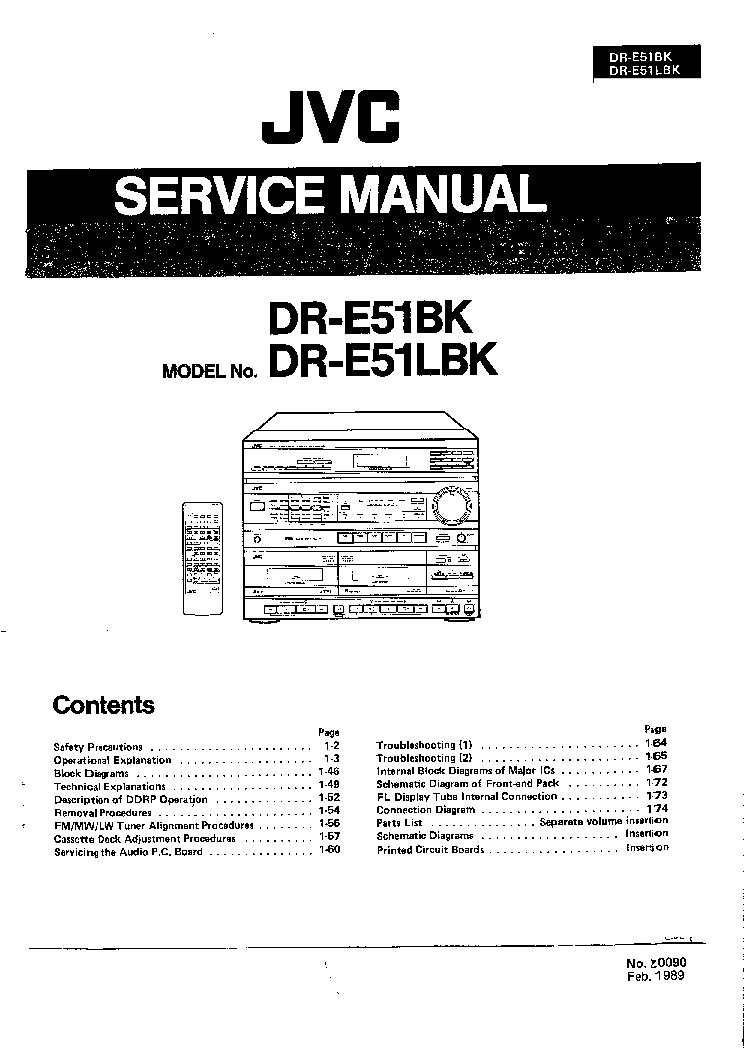 JVC DR-E51BK DR-E51LBK SERVICE MANUAL Service Manual