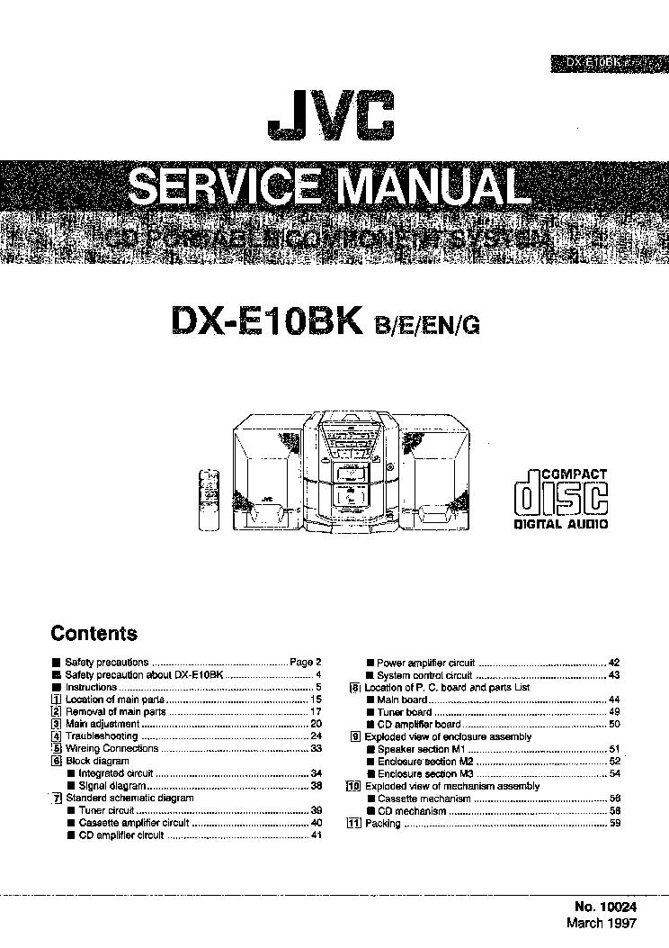 JVC QL-Y55F SM Service Manual download, schematics, eeprom