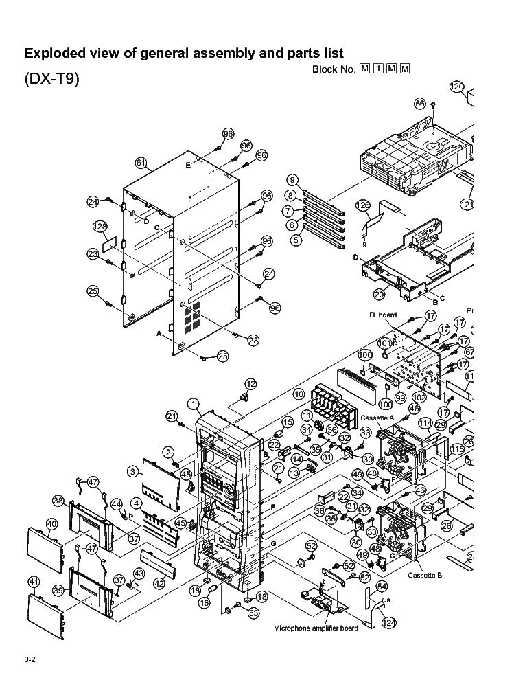 JVC DX-T5 T7 T9 PARTS Service Manual download, schematics