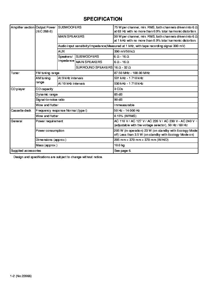 JVC HX-Z9 SM Service Manual download, schematics, eeprom