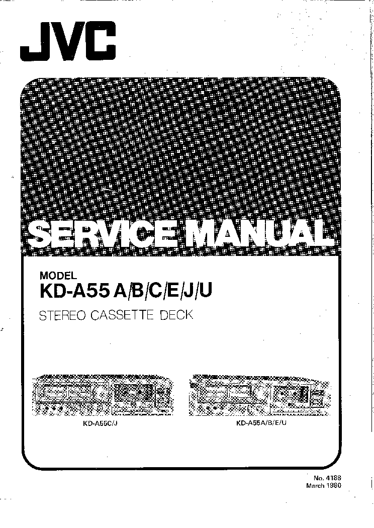 JVC KD-A55 SM Service Manual download, schematics, eeprom