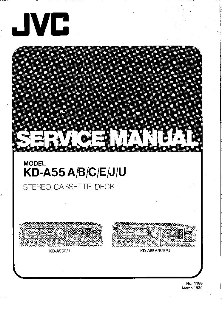JVC KD-A55 SM Service Manual download, schematics, eeprom
