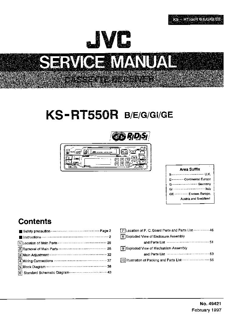 JVC CA-MX50 Service Manual download, schematics, eeprom