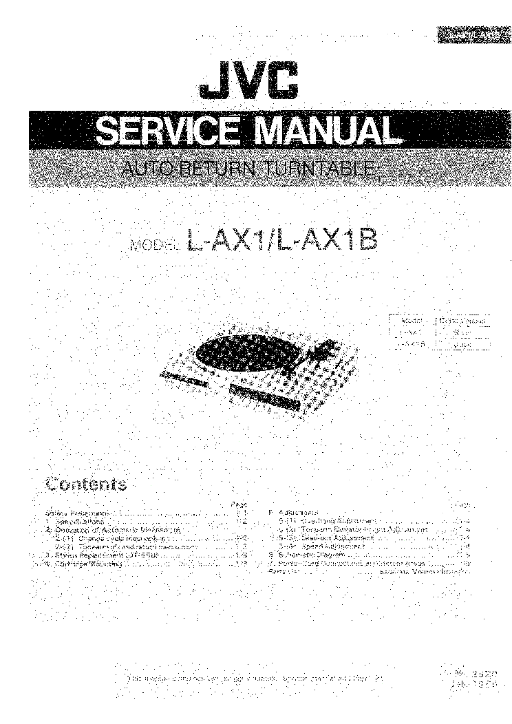 JVC RX-320 Service Manual download, schematics, eeprom