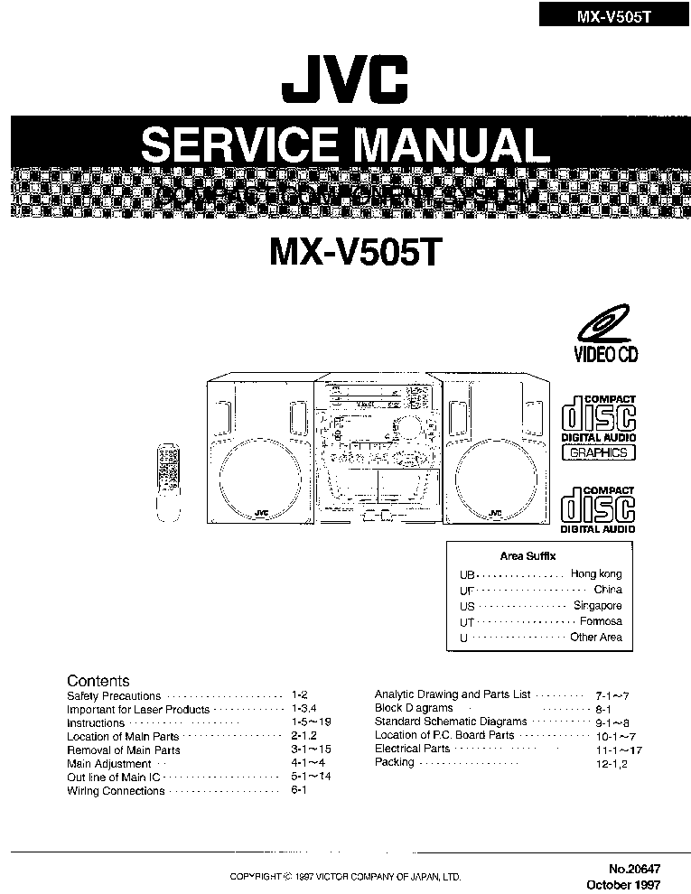 JVC CA-TD77R Service Manual free download, schematics