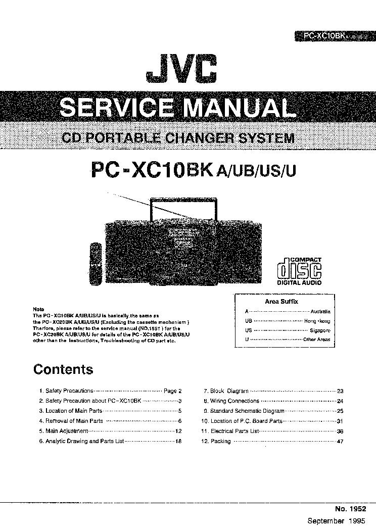 JVC PC-XC10BK Service Manual download, schematics, eeprom