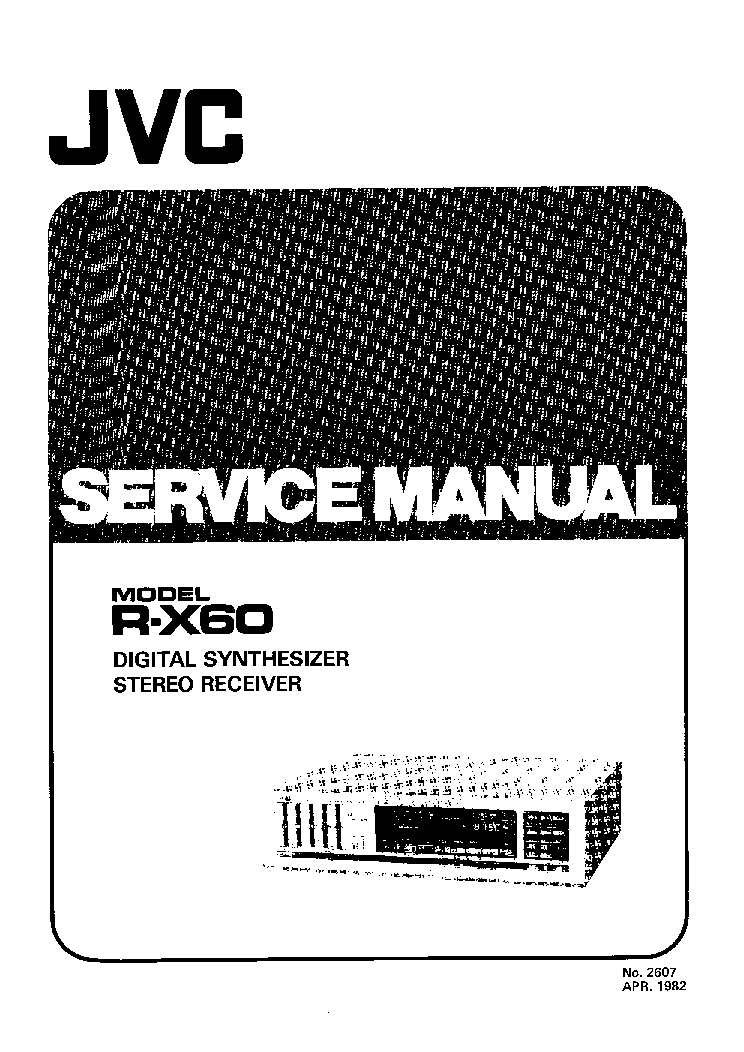 JVC R-X60 SM Service Manual download, schematics, eeprom