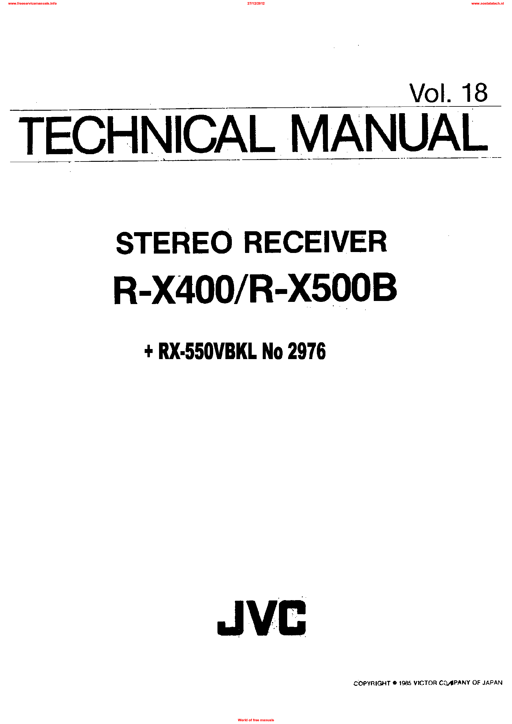 JVC UX-D66TN Service Manual free download, schematics