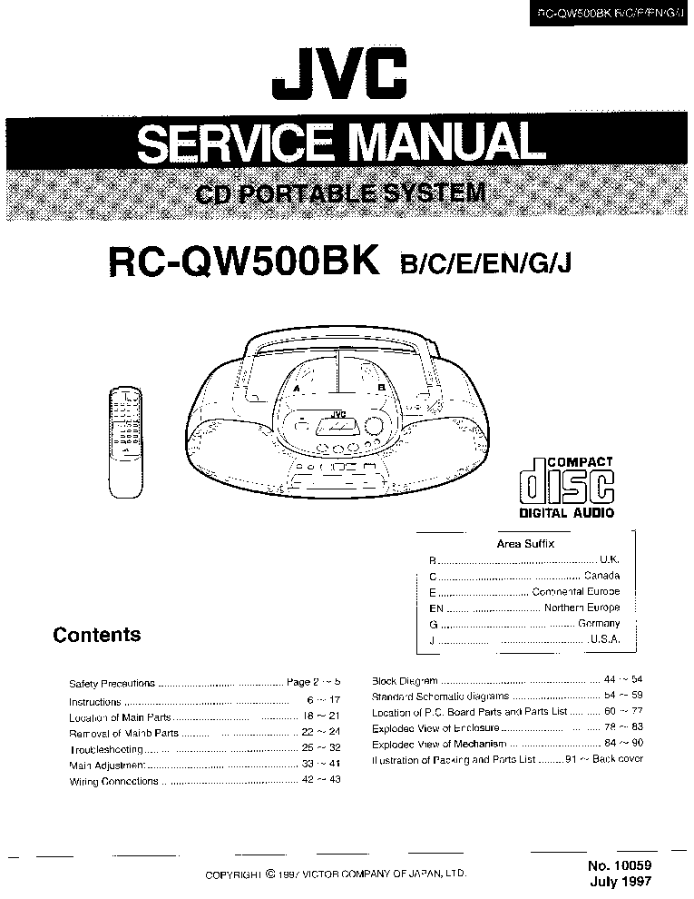 JVC RC-QW500BK SM Service Manual download, schematics
