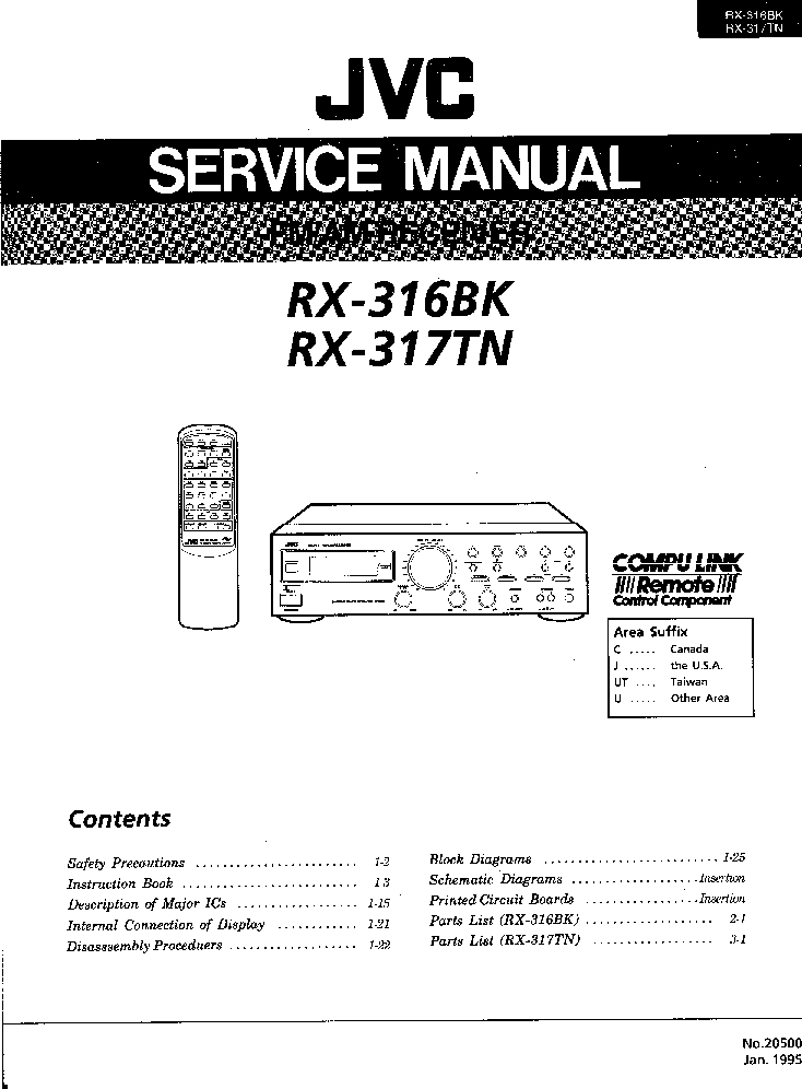 JVC XL-MC301 Service Manual download, schematics, eeprom