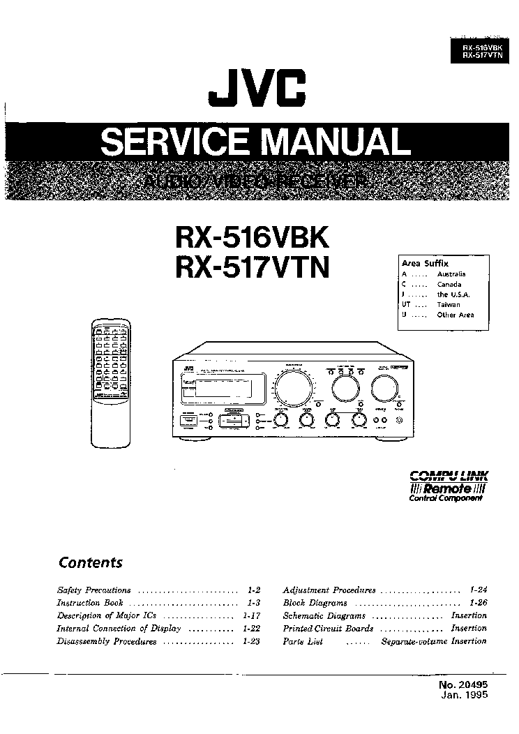JVC RX-516VBK 517VTN SM Service Manual download