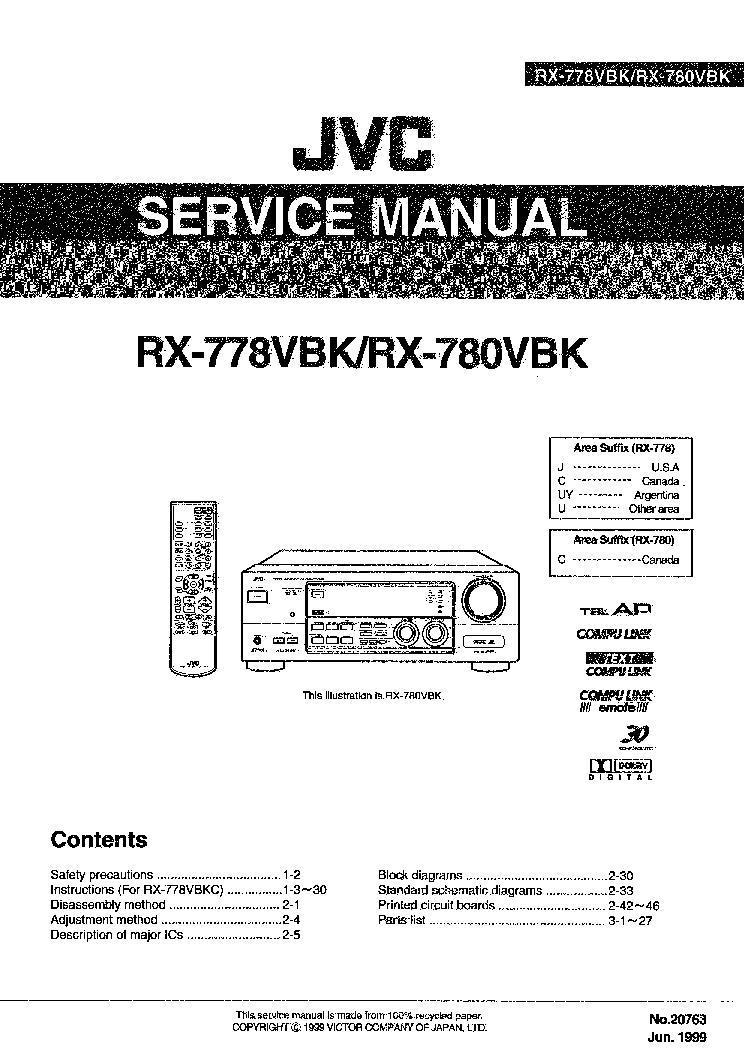 JVC 1956 UX-C30 Service Manual free download, schematics
