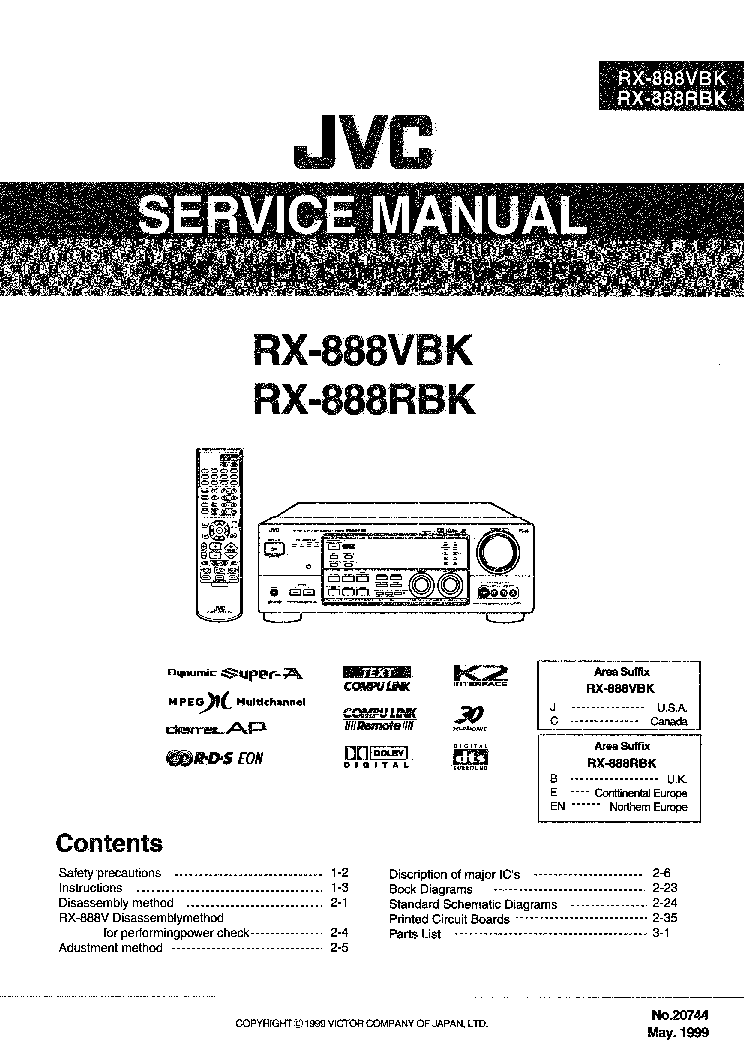 JVC SP-C770 Service Manual free download, schematics