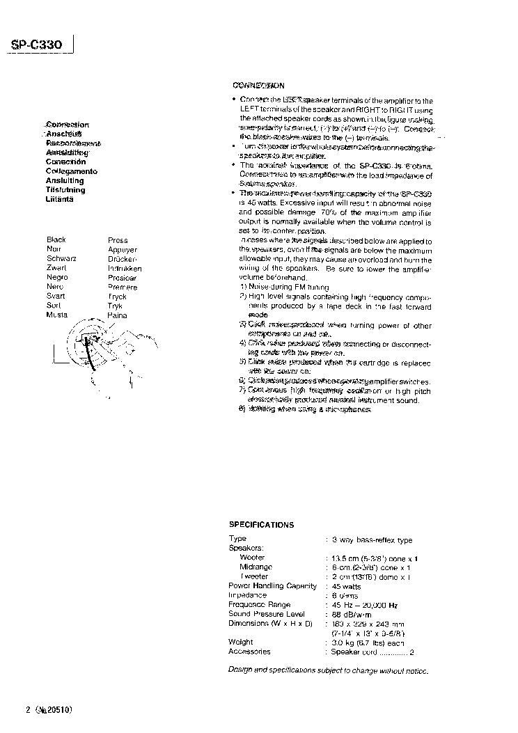 JVC SP-C330 Service Manual download, schematics, eeprom