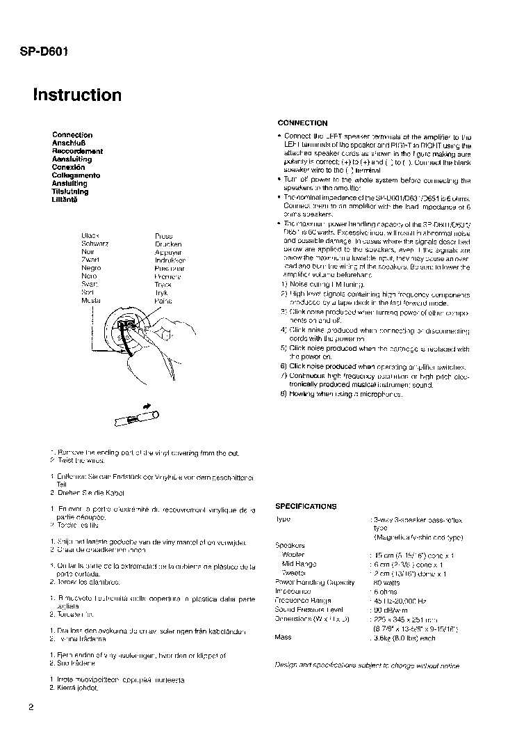 JVC SP-D601 Service Manual download, schematics, eeprom