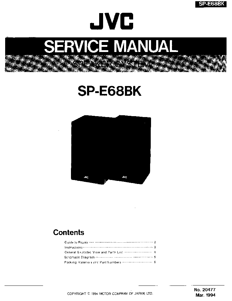 JVC CH-X200 Service Manual free download, schematics