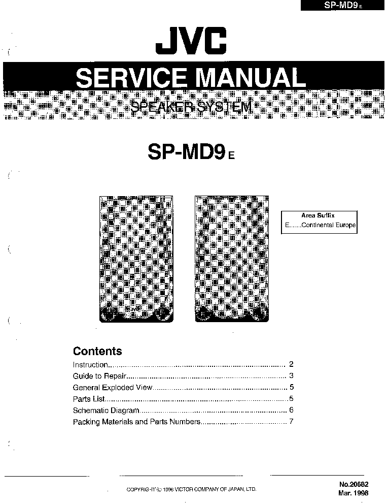 JVC AX1 SM Service Manual download, schematics, eeprom