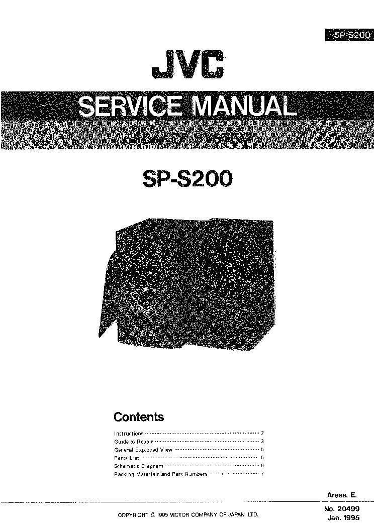 JVC SP-S200 Service Manual free download, schematics