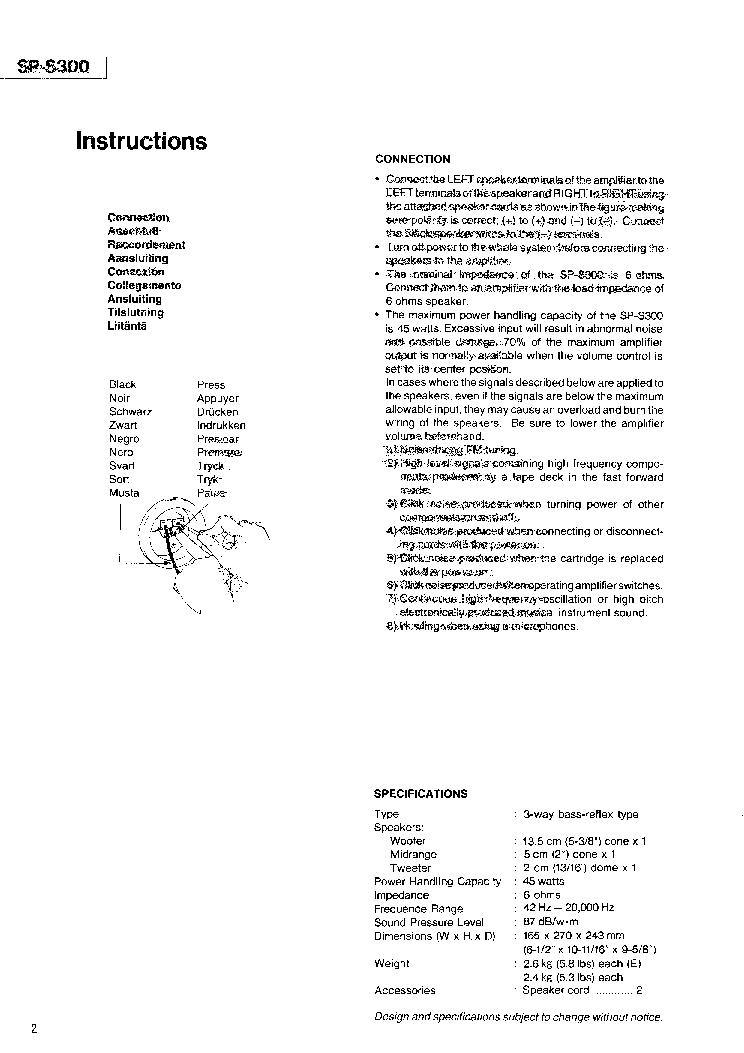 JVC SP-S300UP Service Manual download, schematics, eeprom