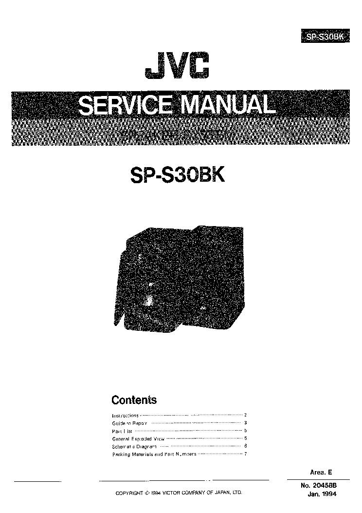 JVC SP-S30BK Service Manual download, schematics, eeprom
