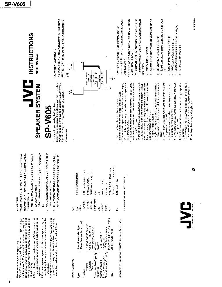 JVC SP-V605 Service Manual download, schematics, eeprom