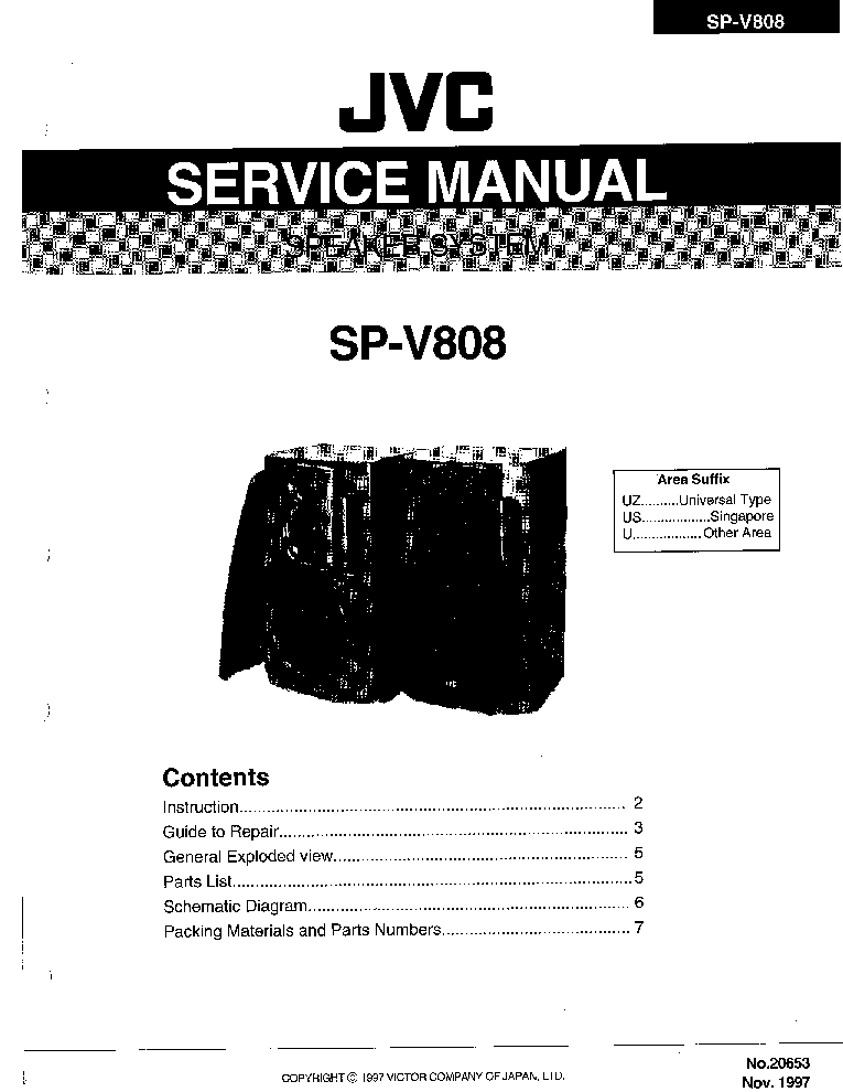JVC MX-JD8 Service Manual free download, schematics