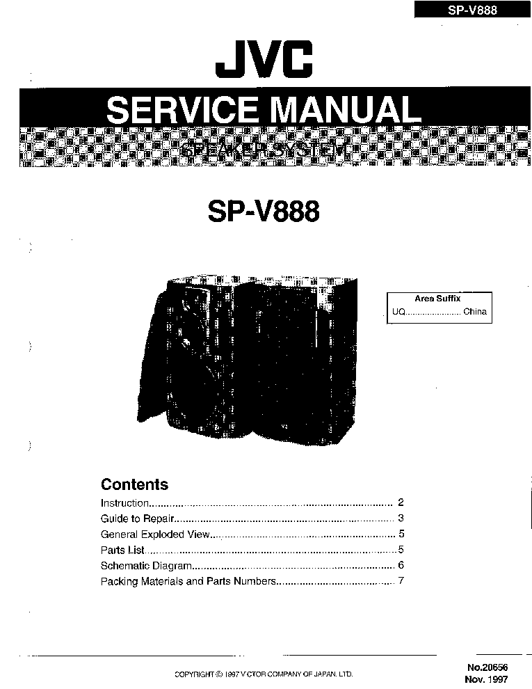 JVC JA-S11 Service Manual download, schematics, eeprom