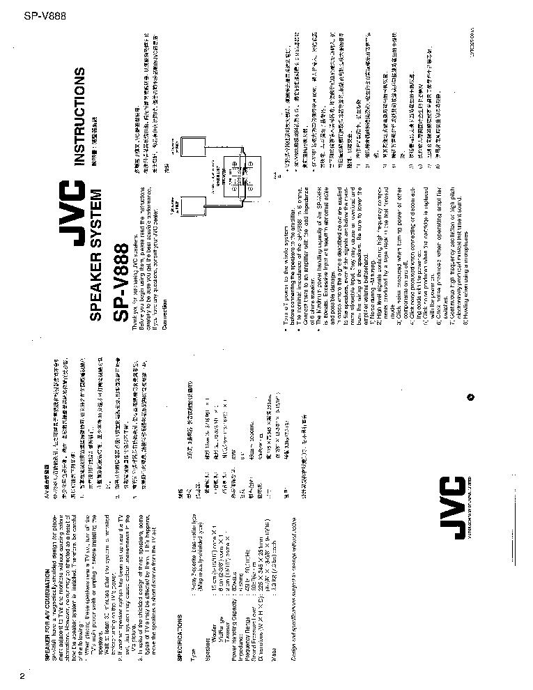 JVC SP-V888 Service Manual download, schematics, eeprom