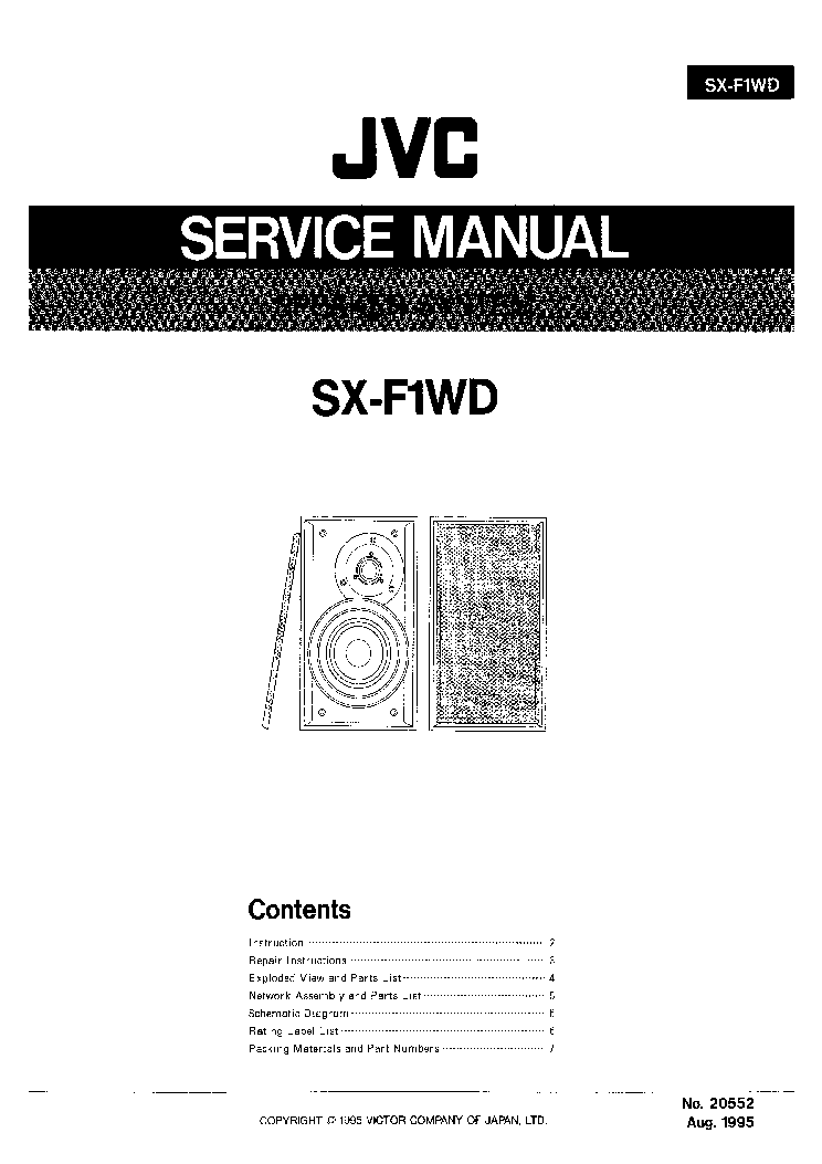 JVC CA-MX30BK SM Service Manual free download, schematics