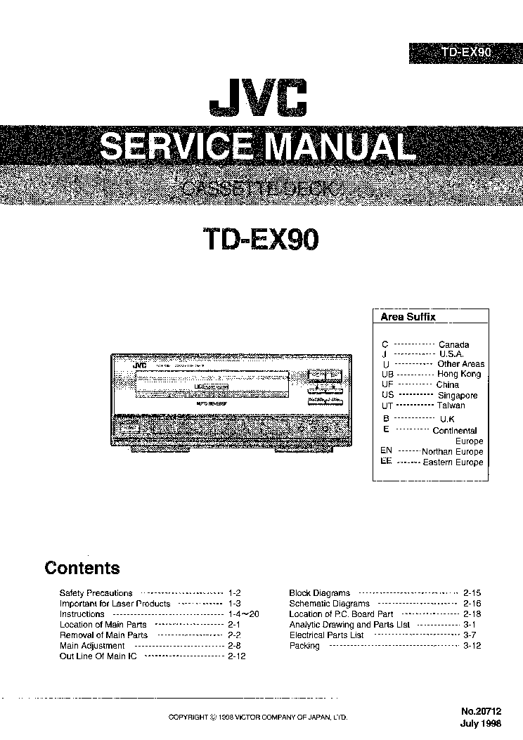JVC KD-SH99R Service Manual free download, schematics