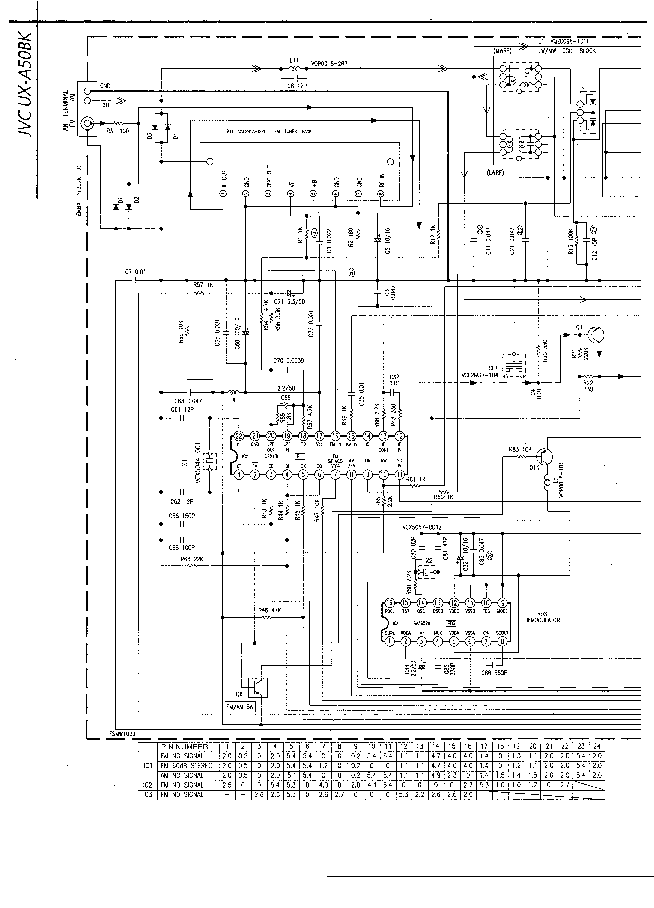 JVC UX-A50BK SCH Service Manual download, schematics