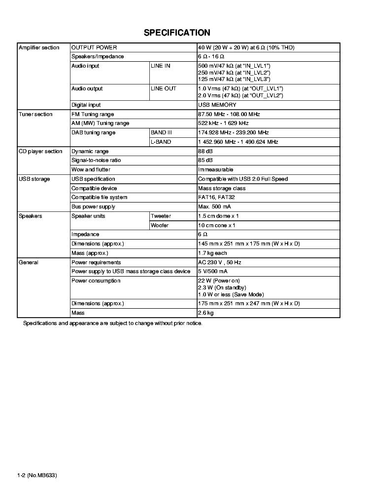 JVC UX-DAB11 Service Manual download, schematics, eeprom