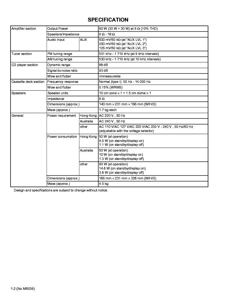 JVC UX-G35U UX-G33A UX-G33U UX-G30U Service Manual