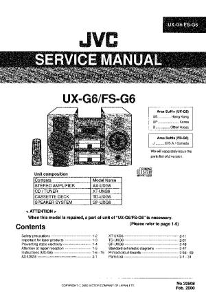 JVC UXG6 FSG6 Service Manual download, schematics