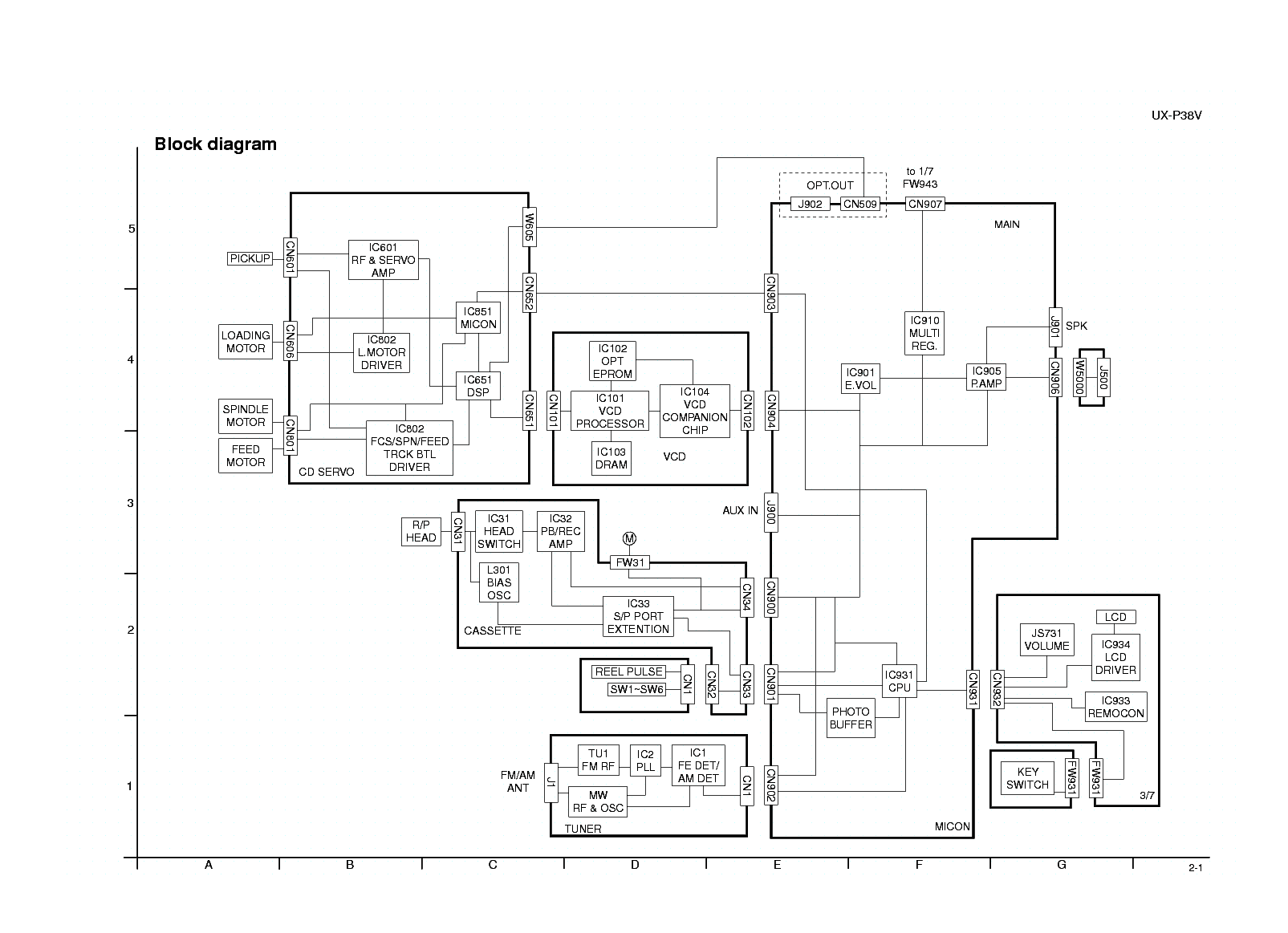 JVC UX-P38V SCH Service Manual download, schematics