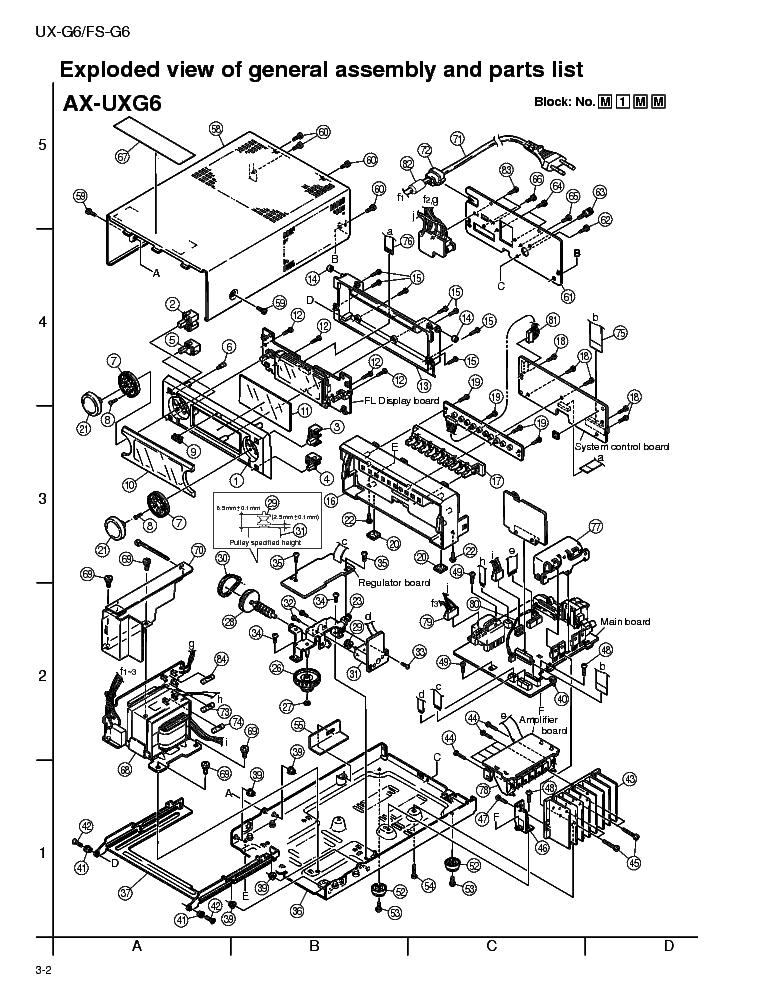 JVC UXG6P Service Manual download, schematics, eeprom