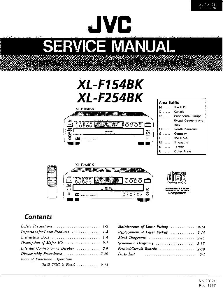 JVC JA-S55 Service Manual download, schematics, eeprom