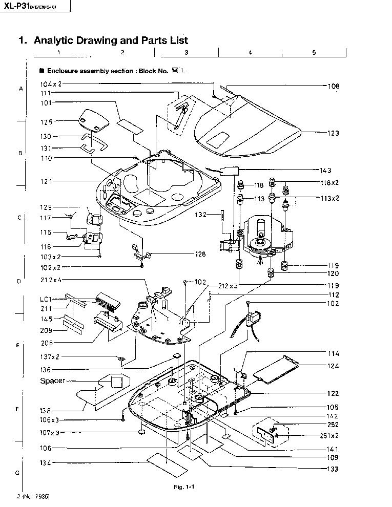 JVC XL-P31 PARTS Service Manual download, schematics