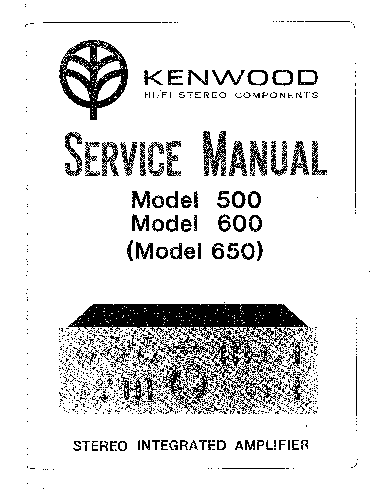 KENWOOD 500 600 650 SM Service Manual download, schematics