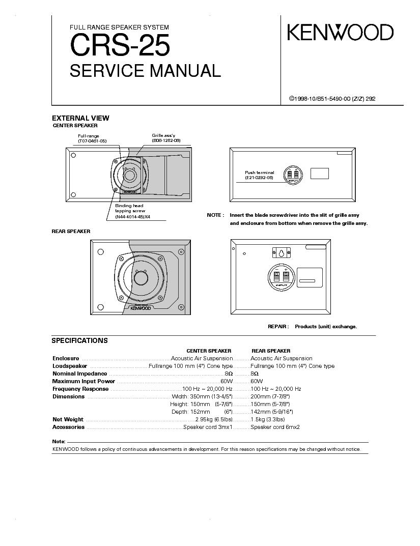 KENWOOD SW-301 103SW SW-501 1050SW SM Service Manual free